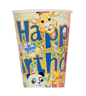 SALE! 8 PCS 9OZ CUPS - HAPPY TOGETHER (48 PCS) PF-11800