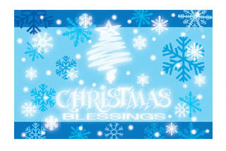 "SALE! 54""X72"" TABLECOVER - XMAS BLESSING (48 PACKS) PF-12503"