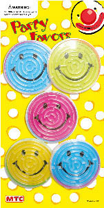 6 SMILEY LABYRINTH BALLS (24 PCS) PF-1269