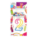 #2 RAINBOW CANDLE WITH TOPPER (24 PCS) PF-6256