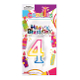 #4 RAINBOW CANDLE WITH TOPPER (24 PCS) PF-6258