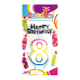 #8 RAINBOW CANDLE WITH TOPPER (24 PCS) PF-6445