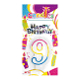 #9 RAINBOW CANDLE WITH TOPPER (24 PCS) PF-6446