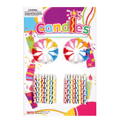 32 DIAMOND CANDLES WITH HOLDER (24 PCS) PF-8733