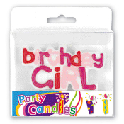BIRTHDAY GIRL CANDLE (24 PCS) PF-7719