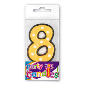 "2.5"" DOT #8 CANDLE (24 PCS) PF-6247"