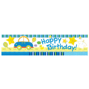 "SALE! TOY CAR - 7"" X 31"" PAPER TISSUE BANNER (48 PACKS) PF-23550"