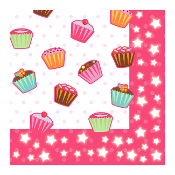 CUPCAKES - 16 LUNCHEON NAPKINS (24 PACKS) PF-24002