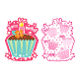 CUPCAKES - 8 INVITATIONS (24 PACKS) PF-24040