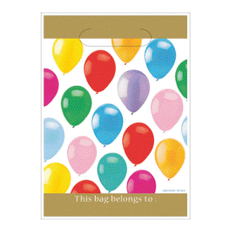 "COLORFUL BALLOONS - 8 LOOT BAGS 6.5""W X 9""L (24 PACKS) PF-22810"
