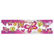 "SALE! BUTTERFLIES - 8.5"" X 32"" TISSUE BANNER (48 PACKS) PF-13557"