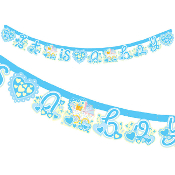 "BABY BOY IN A TROLLEY - 7""X84"" LETTER BANNER (24 PACKS) PF-18622"