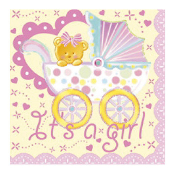 BABY GIRL IN A TROLLEY - 16 PCS NAPKINS (24 PACKS) PF-18702