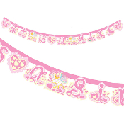 "BABY GIRL IN A TROLLEY -7""X84"" LETTER BANNER (24 PACKS) PF-18722"