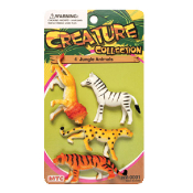 4 PCS JUNGLE ANIMALS - 3 ASSORTMENT (24 PCS) NV-0001