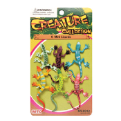 6 PCS MINI LIZARDS - 2 ASSORTMENT (24 PCS) NV-0012
