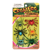 6 PCS MINI SPIDERS - 2 ASSORTMENT (24 PCS) NV-0013