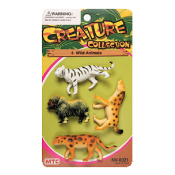 4 PCS WILD ANIMALS - 3 ASSORTMENT (24 PCS) NV-0021