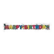12 FT FOIL BANNERS - HAPPY BRITHDAY (24 PACKS) PF-8071