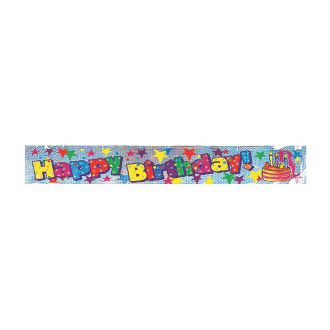 12 FT LASER BANNERS - BIRTHDAY CAKE (24 PACKS) PF-8678