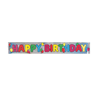 12 FT LASER BANNERS - HAPPY BRITHDAY (24 PACKS) PF-8538