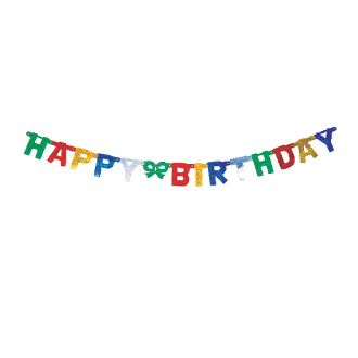 LETTER BANNERS - HAPPY BIRTHDAY LASER (24 PACKS) PF-8610