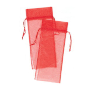 "2 PCS 5.75""W X 14""H ORGANZA POUCH - RED (24 PACKS) PF-7566"
