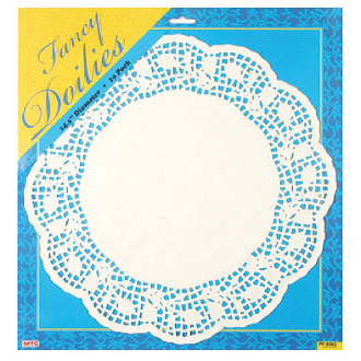 "10 PCS 14.5"" WHITE DOILIES (24 PACKS) PF-8562"