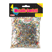 4 OZ. METALLIC CONFETTI (24PACKS) PF-8100