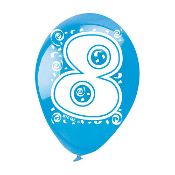 "SALE! 5 PCS 12"" PRINTED BALLOONS - #7 (48 PCS) PF-6230"