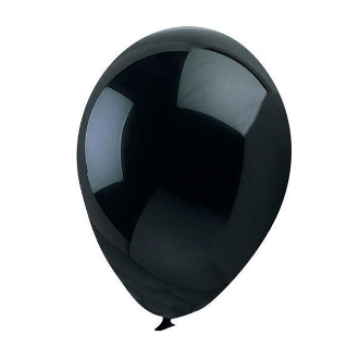 "10 PCS 12"" LATEX BALLOON - BLACK (24 PCS) PF-6926"