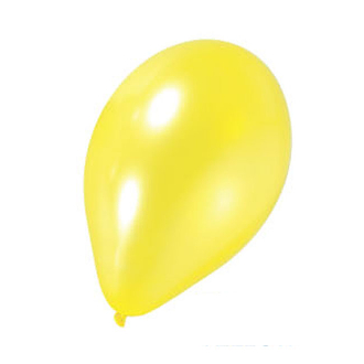 "10 PCS 12"" PEARLIZED LATEX BALLOON - YELLOW (24 PCS) PF-6935"