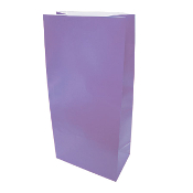"10 PCS PURPLE PAPER SACKS 4.5""W X 9.5""L X 2.5"" (24PACKS) PF-6908"