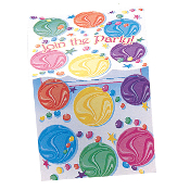 SALE! BIRTHDAY MARBLES - 8 INVITATIONS (24 PACKS) PF-5440