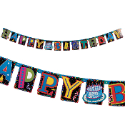 "BIRTHDAY DELIGHT - 7"" X 98"" LETTER BANNER (24 PACKS) PF-4822"