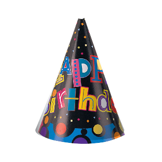 BIRTHDAY DELIGHT - 8 PARTY HATS (24 PACKS) PF-4832
