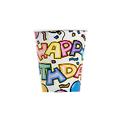 BIRTHDAY BASH - 8 PCS 10 OZ. CUPS (24 PACKS) PF-5800