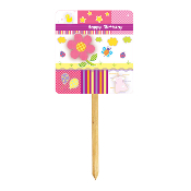 "SALE! SUNSHINE FLOWER - YARD SIGNS 14""WX14""L (48 PACKS) PF-23646"