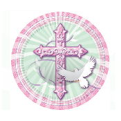 "BLESSED OCCASIONS PINK - 8 PCS 7"" PLATE (24 PACKS) PF-25201"