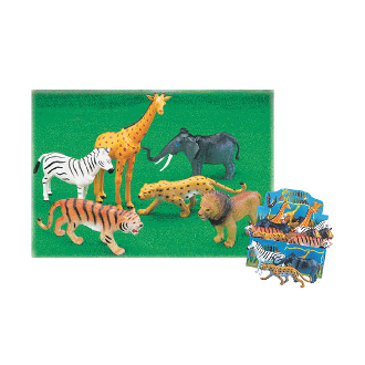 "8""-12"" JUNGLE ANIMALS - 6 ASSORTMENT (48 PCS) 33280"