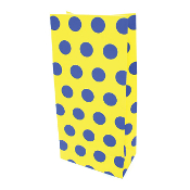 10 PCS YELLOW POLKA DOT PAPER SACKS (24 PACKS) PF-6950