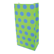10 PCS GREEN POLKA DOT PAPER SACKS (24 PACKS) PF-6952