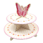 2 TIER BUTTERFLY CUPCAKE STAND (12 PACKS) PF-6847