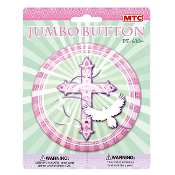 "SALE! 4"" JUMBO BUTTON - BLESSED OCCASIONS PINK (24 PCS) PF-6104"