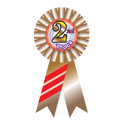 RIBBON BADGES - 2ND PLACE (24 PCS) PF-6547