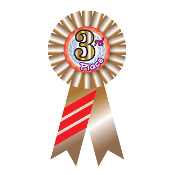 RIBBON BADGES - 3RD PLACE (24 PCS) PF-6548