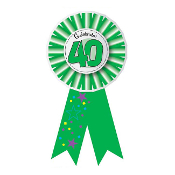 RIBBON BADGES - CELEBRATE 40 (24 PCS) PF-6947