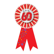 RIBBON BADGES - CELEBRATE 60 (24 PCS) PF-6949