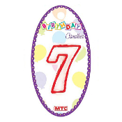 "3"" NUMERAL #7 CANDLE (24 PCS) PF-6910"