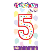 "5.25"" JUMBO NUMERAL CANDLE #5 (12 PCS) PF-6817"